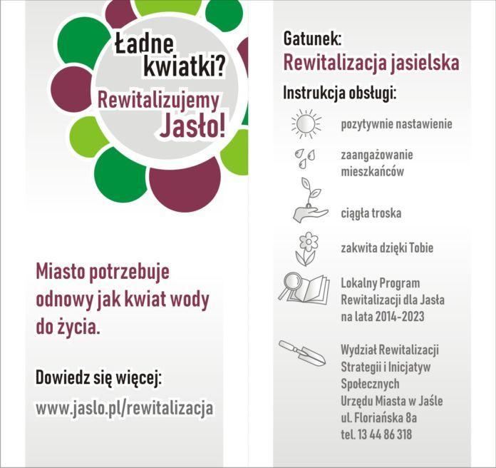Rewitalizacja Miasta Jasła - ulotka
