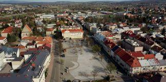 Jasielski rynek - widok z drona