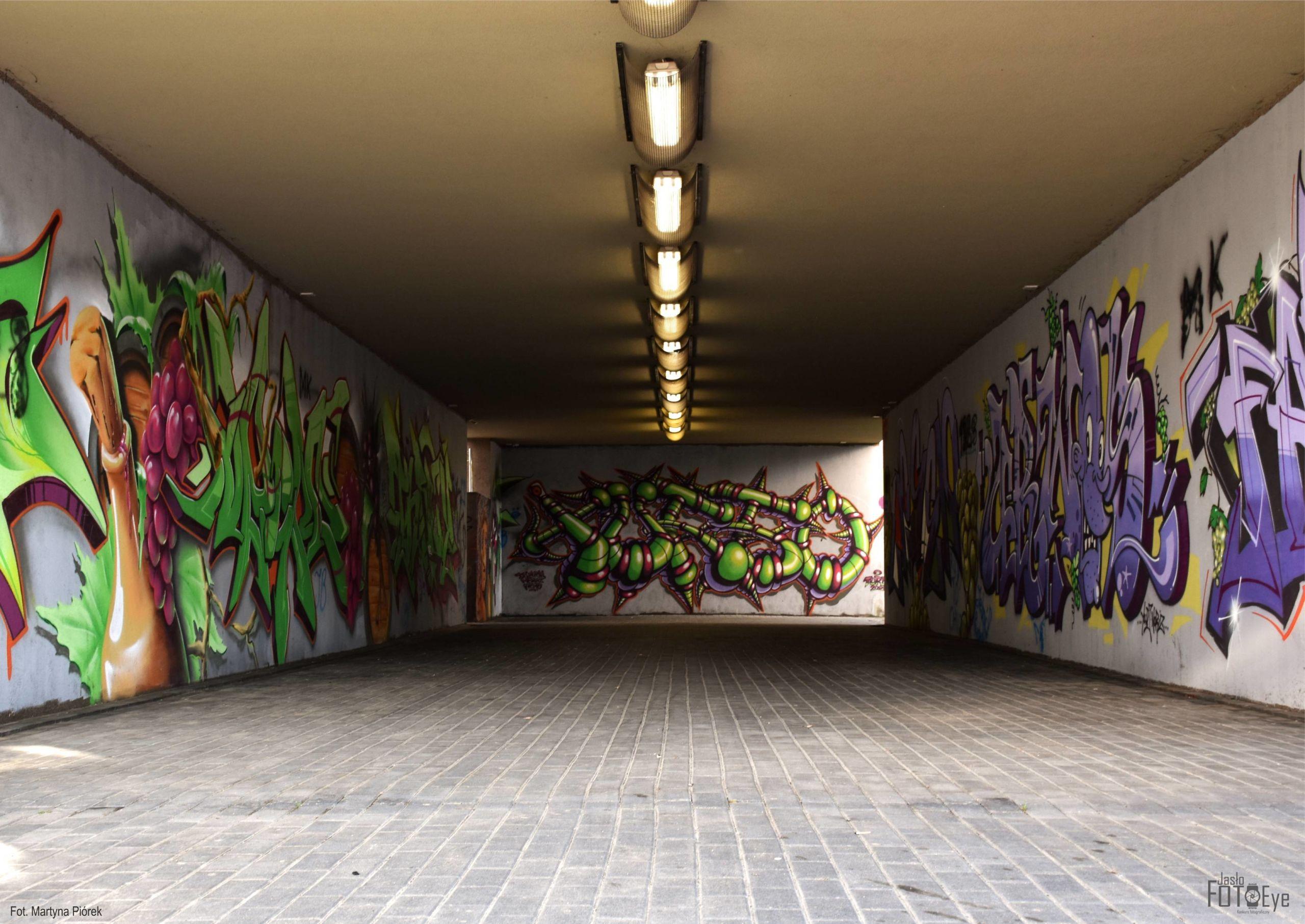 """zdjęcie pt. """"Tunel Kolorów"""", autorstwa Martyny Piórek."""