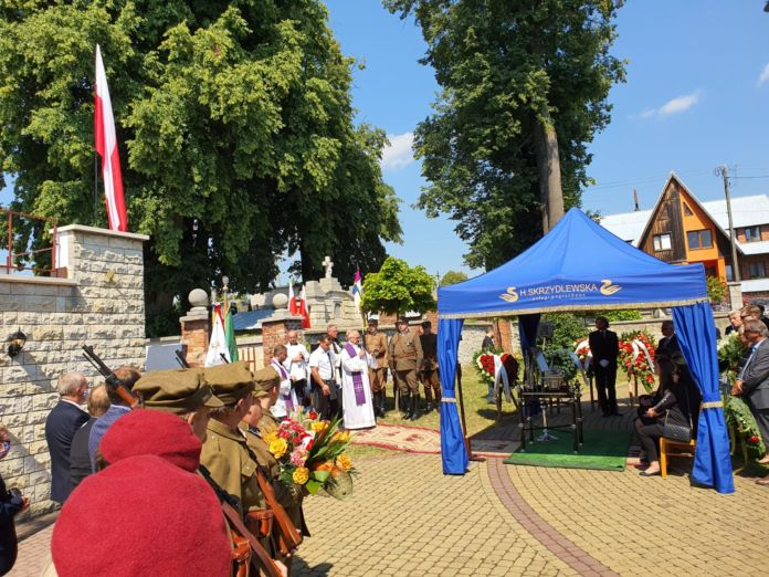 pogrzeb Krystyny Dobrzańskiej-Sobierajskiej - córki dowódcy Oddziału Wojska Polskiego mjr. Henryka Dobrzańskiego