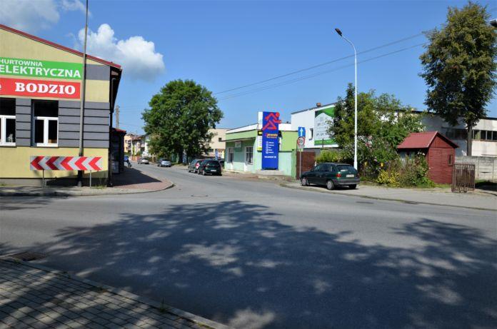 Ulica Szajnochy w Jaśle, połaczenie z ulicą WładysławaJagiełły