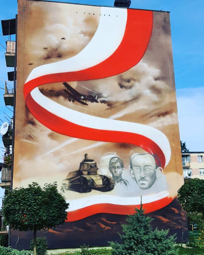 Mural na bloku przy ulicy Szajnochy w Jaśle
