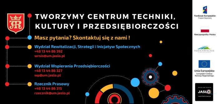Baner Tworzymy Centrum Technki, Kultury i Przedsiębiorczości w Jaśle