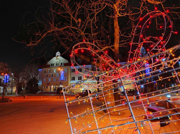 świąteczne oświetlenie w mieście