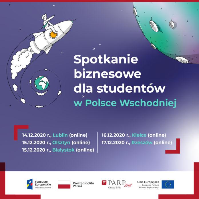 Plakat Spotkanie biznesowe dla studentów
