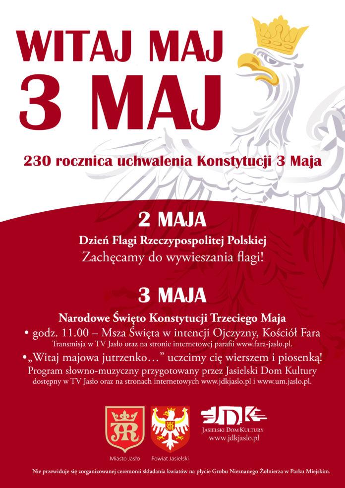 Plakat jasielskie obchody Konstytucji 3 maja