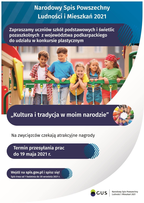 Plakat konkurs: kultura i tradycja w moim narodzie