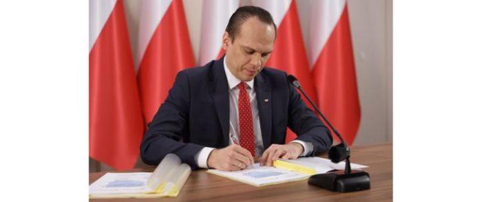 Wiceminister Infrastruktury Rafal Weber