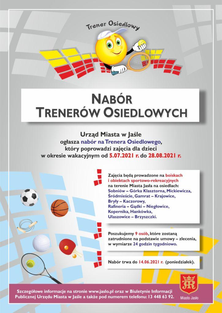Plakat Nabór Trenerów Osiedlowych