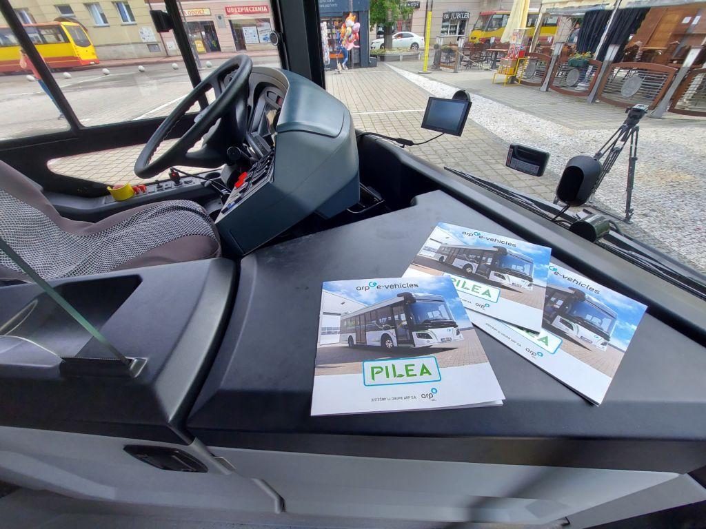 kokpit autobusu elektrycznego