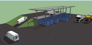 Rampa - wizualizacja Punkt Selektywnego Zbierania Odpadów Komunalnych (PSZOK) znajdujący się przy ul. Żniwnej będzie rozbudowany i zmodernizowany.