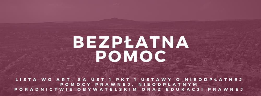 Lista jednostek oraz dane kontaktowe jednostek znajdujących się na terenie powiatu jasielskiego, w których prowadzone jest nieodpłatne poradnictwo w powiecie jasielskim.