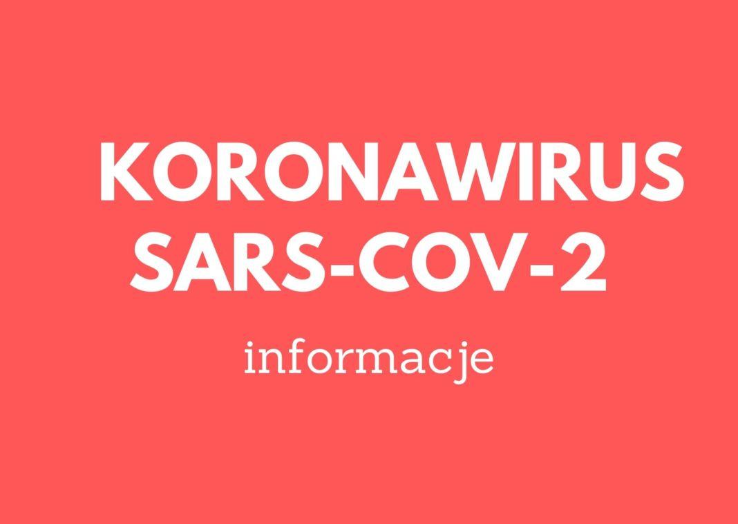 grafika dekoracyjna - informacje dotyczące koronawirusa SARS-CoV-2