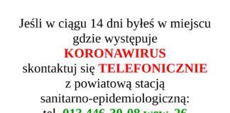Komunikat Powiatowej stacji sanitarno epidemiologicznej w Jaśle